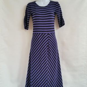 Marc by Marc Jacobs Purple and Black Dress Size XS